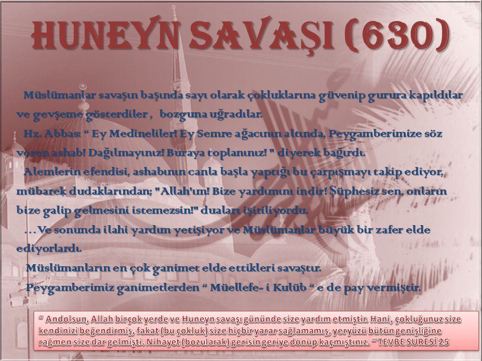 HUNEYN SAVAŞI (630)