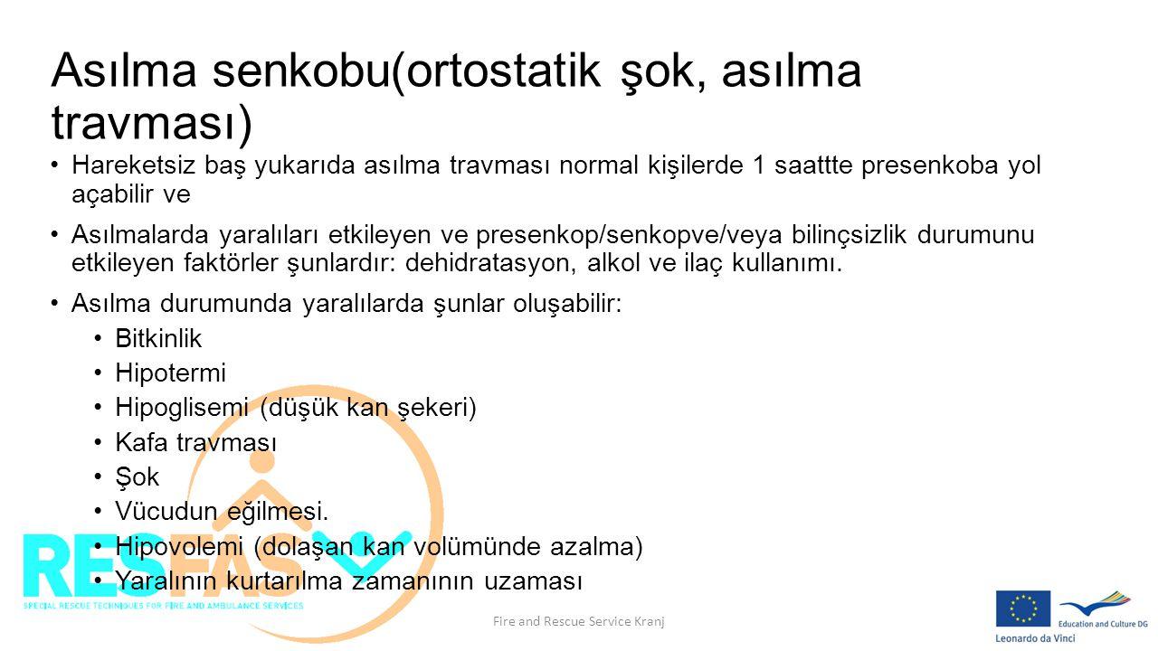 Asılma senkobu(ortostatik şok, asılma travması)