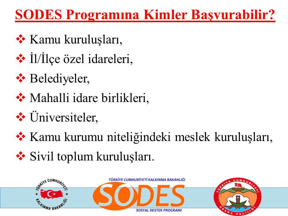 SODES Programına Kimler Başvurabilir