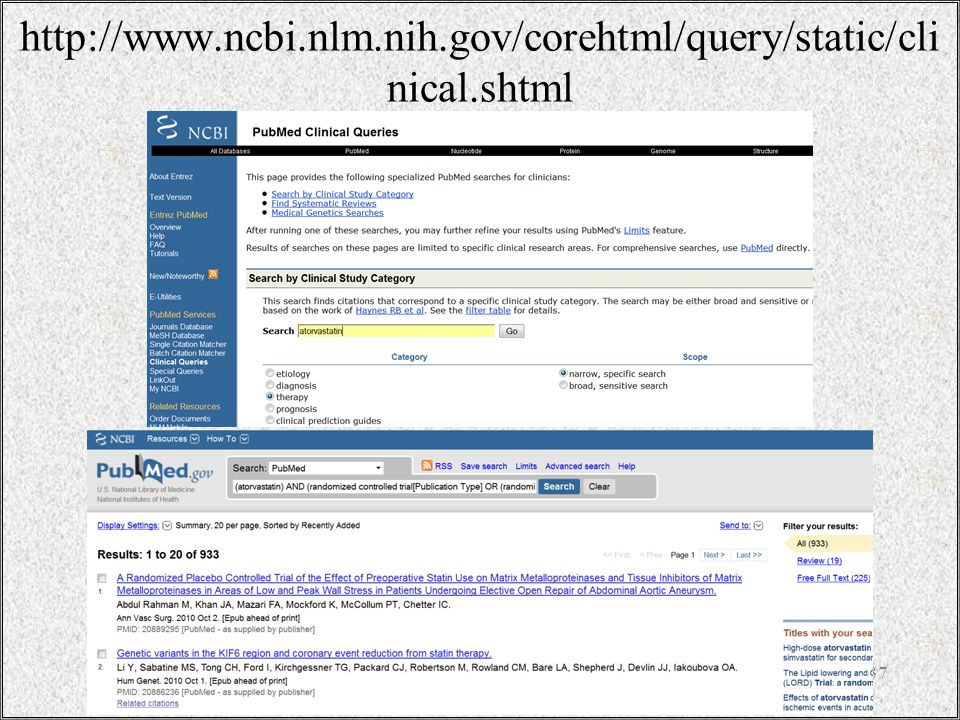 http://www.ncbi.nlm.nih.gov/corehtml/query/static/clinical.shtml / 37