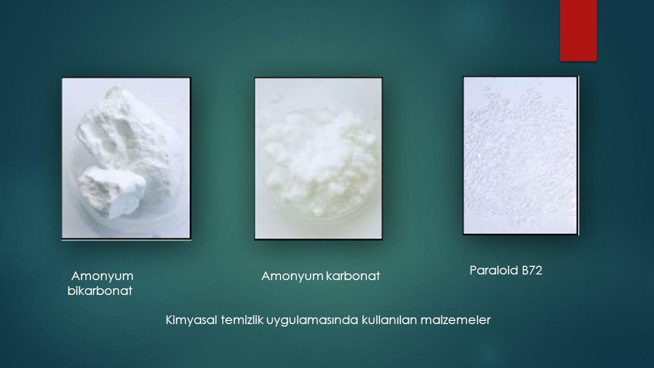 Paraloid B72 Amonyum. bikarbonat. Amonyum karbonat.