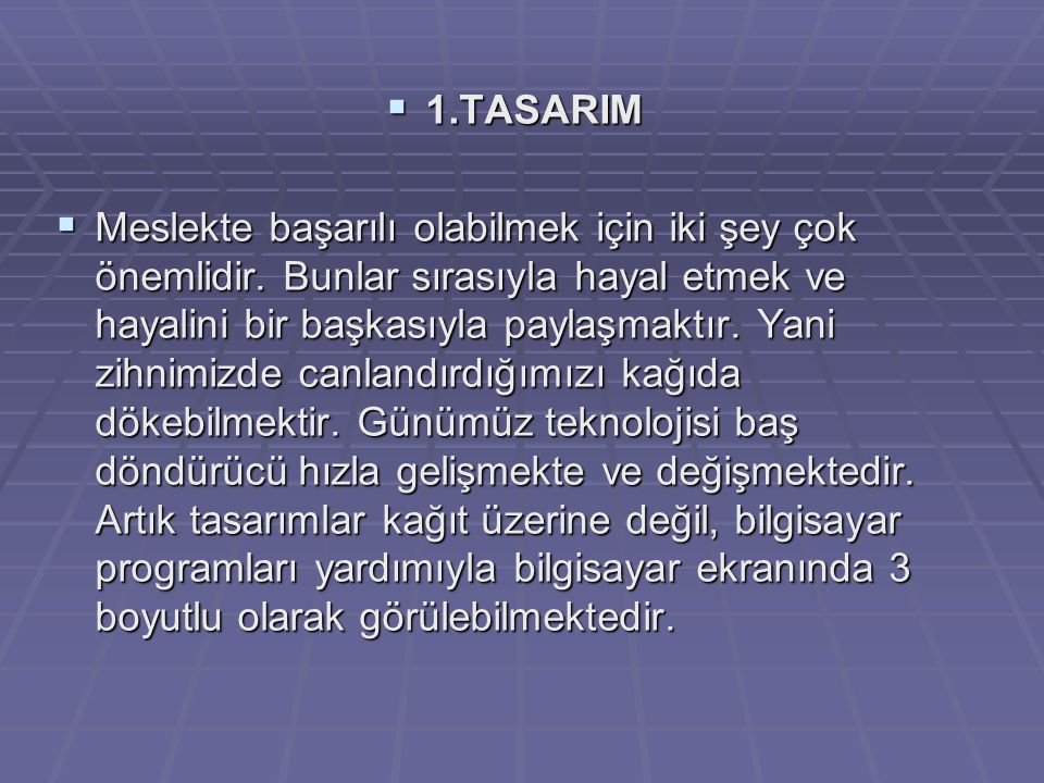 1.TASARIM