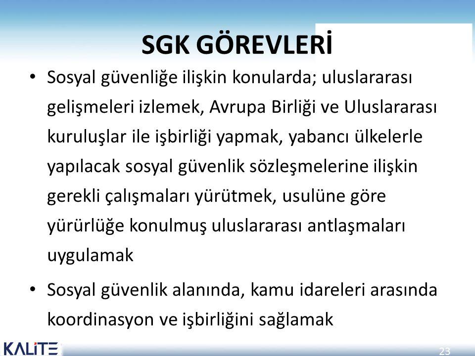 SGK GÖREVLERİ