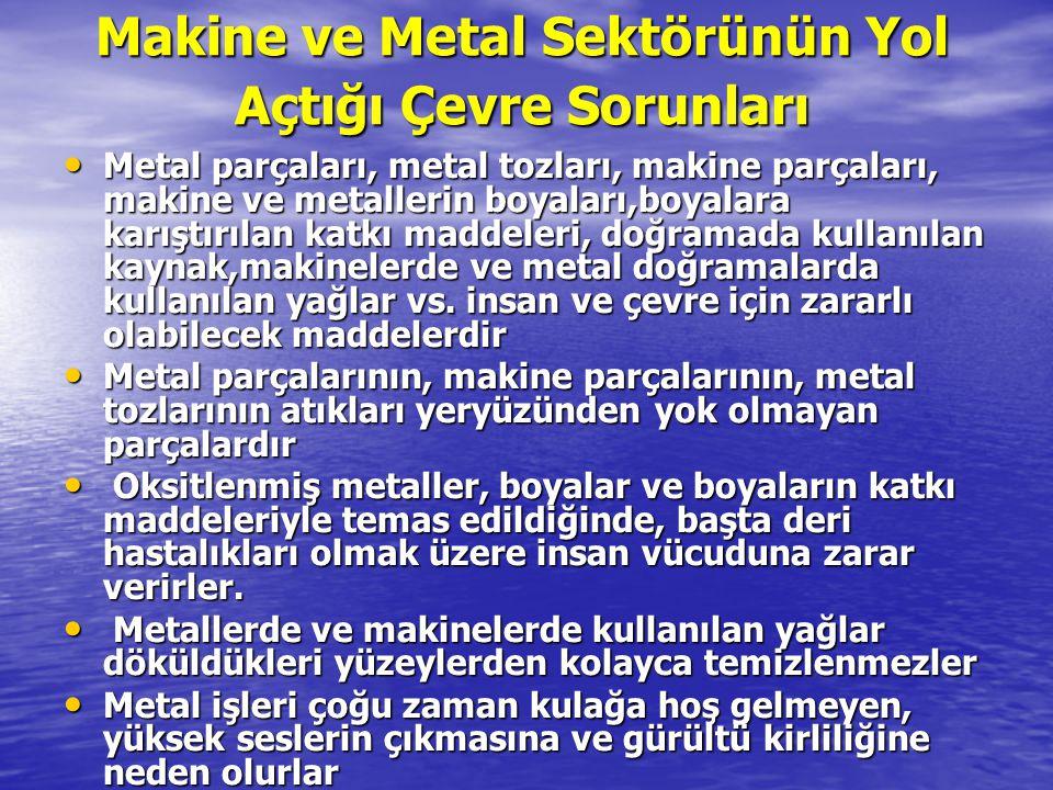 Makine ve Metal Sektörünün Yol Açtığı Çevre Sorunları