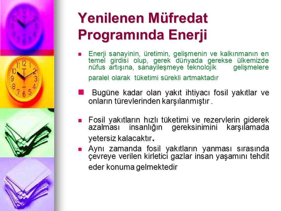 Yenilenen Müfredat Programında Enerji