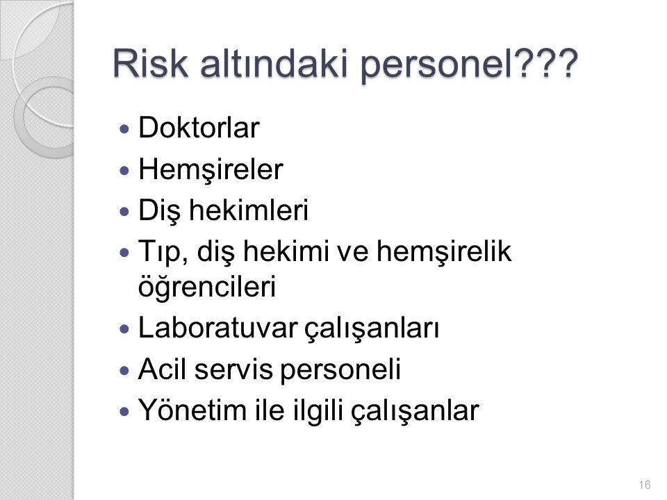 Risk altındaki personel