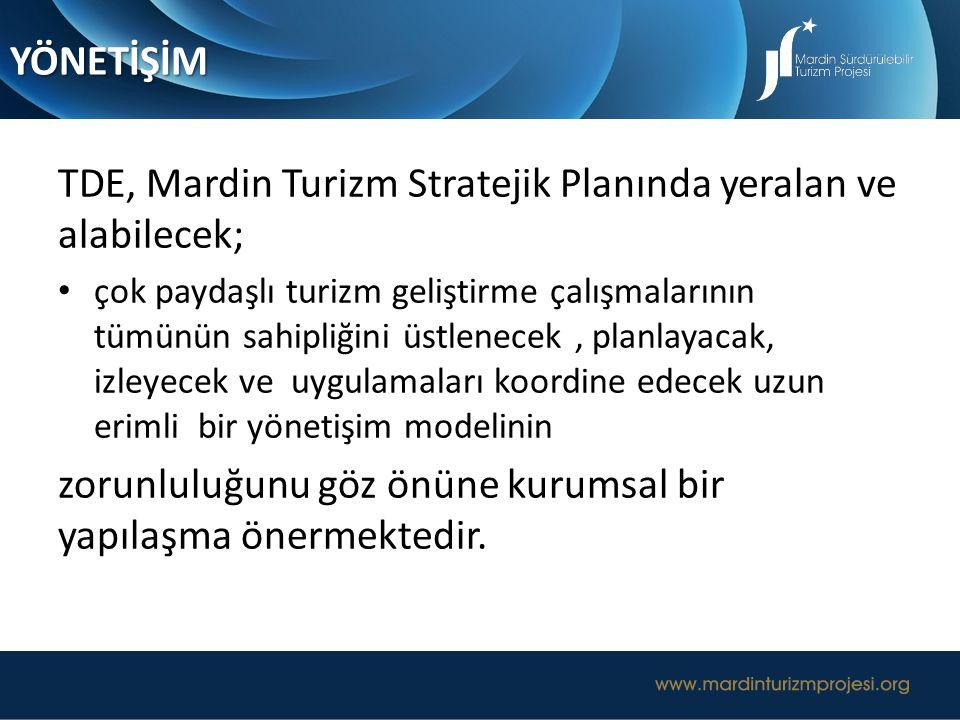 TDE, Mardin Turizm Stratejik Planında yeralan ve alabilecek;