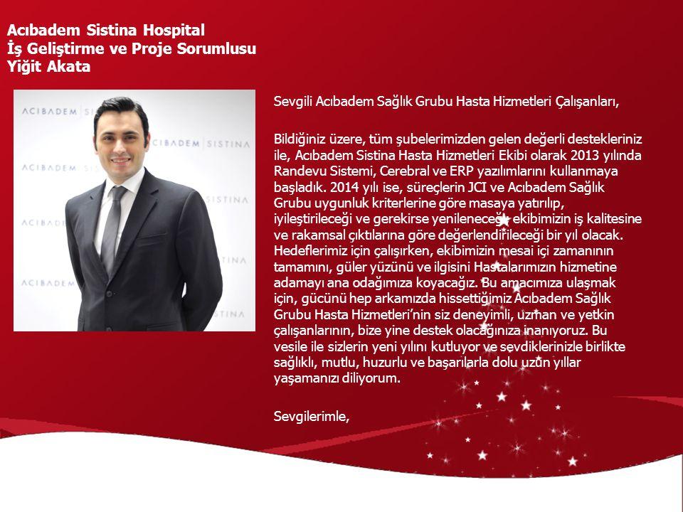 Acıbadem Sistina Hospital İş Geliştirme ve Proje Sorumlusu Yiğit Akata