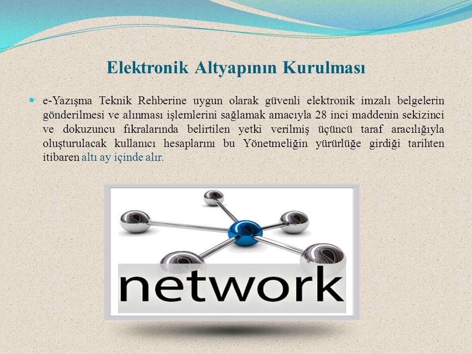 Elektronik Altyapının Kurulması