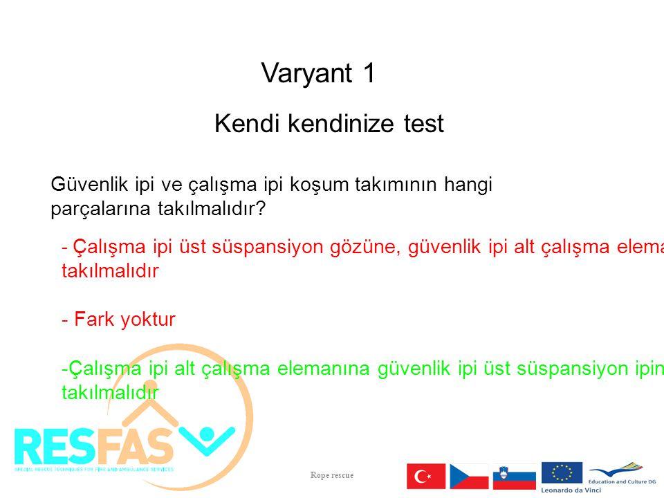 Varyant 1 Kendi kendinize test