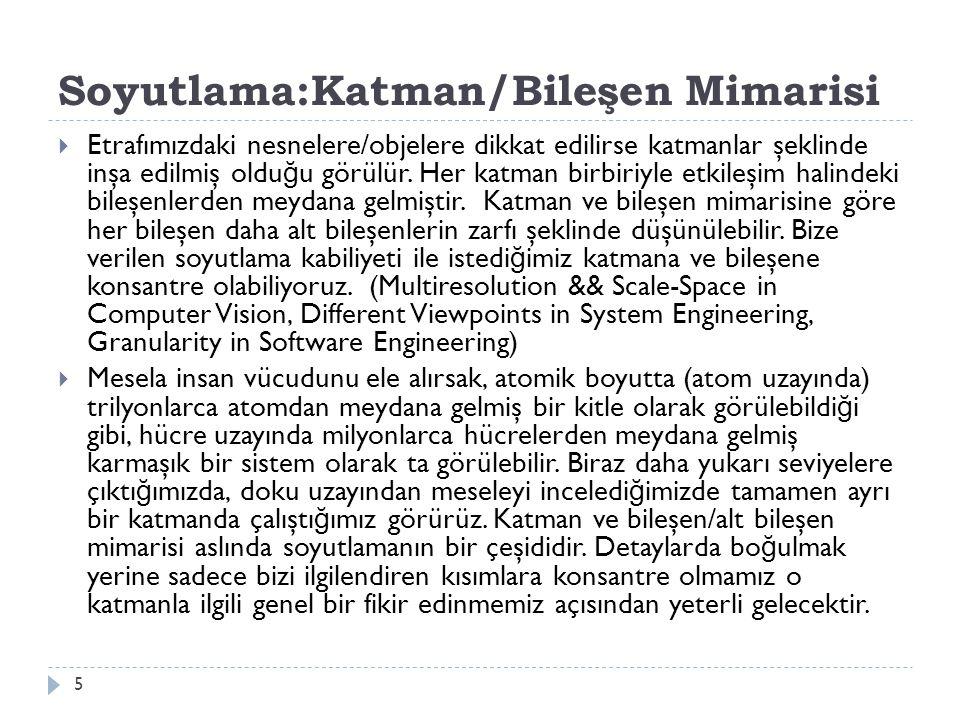 Soyutlama:Katman/Bileşen Mimarisi