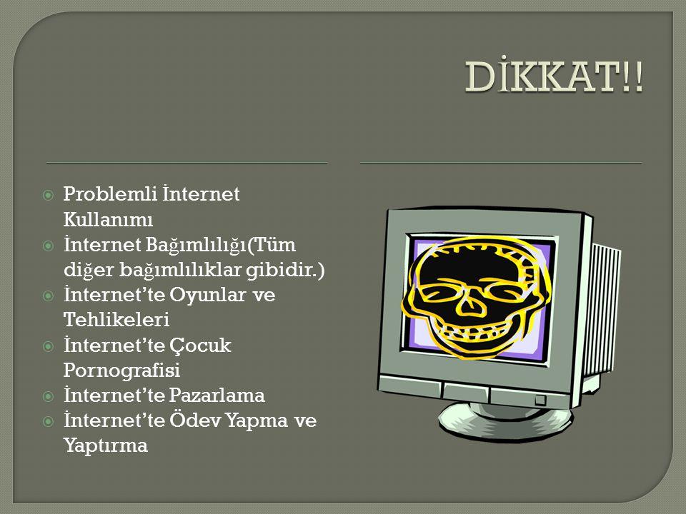 DİKKAT!! Problemli İnternet Kullanımı