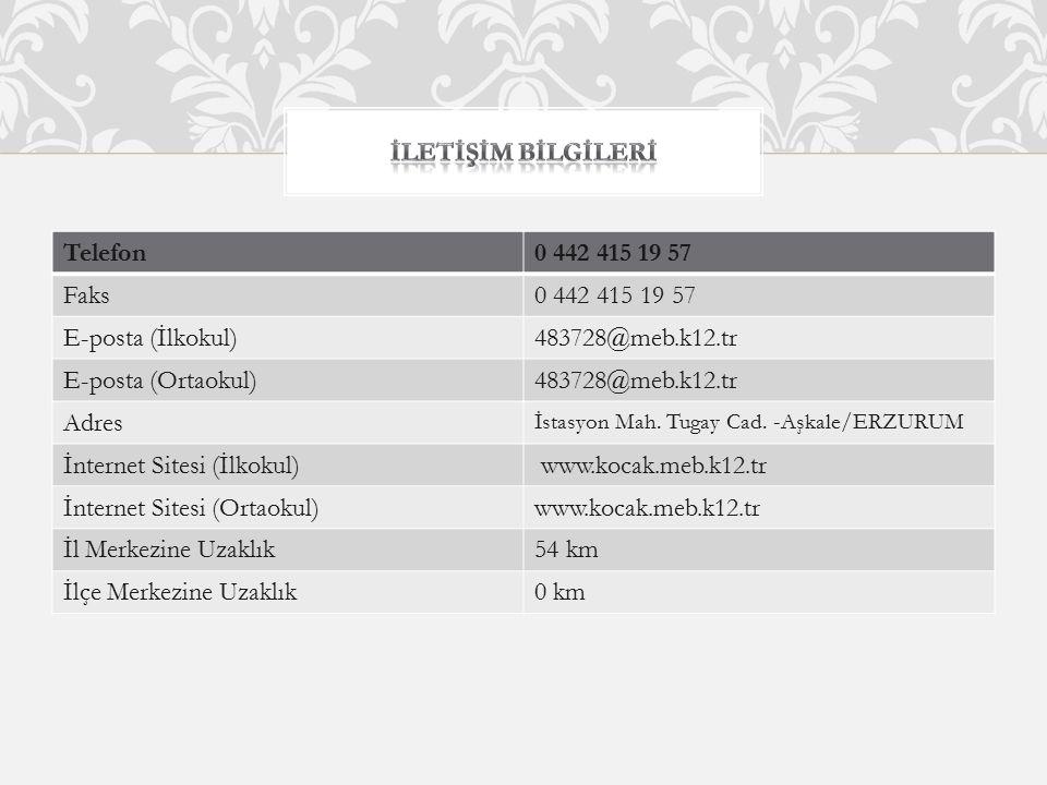İnternet Sitesi (İlkokul) www.kocak.meb.k12.tr