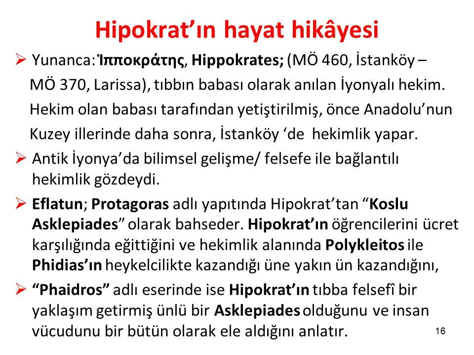 Hipokrat'ın hayat hikâyesi