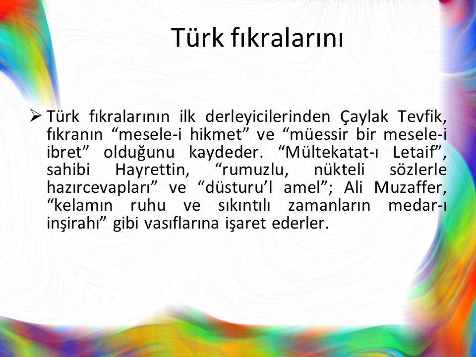 Türk fıkralarını