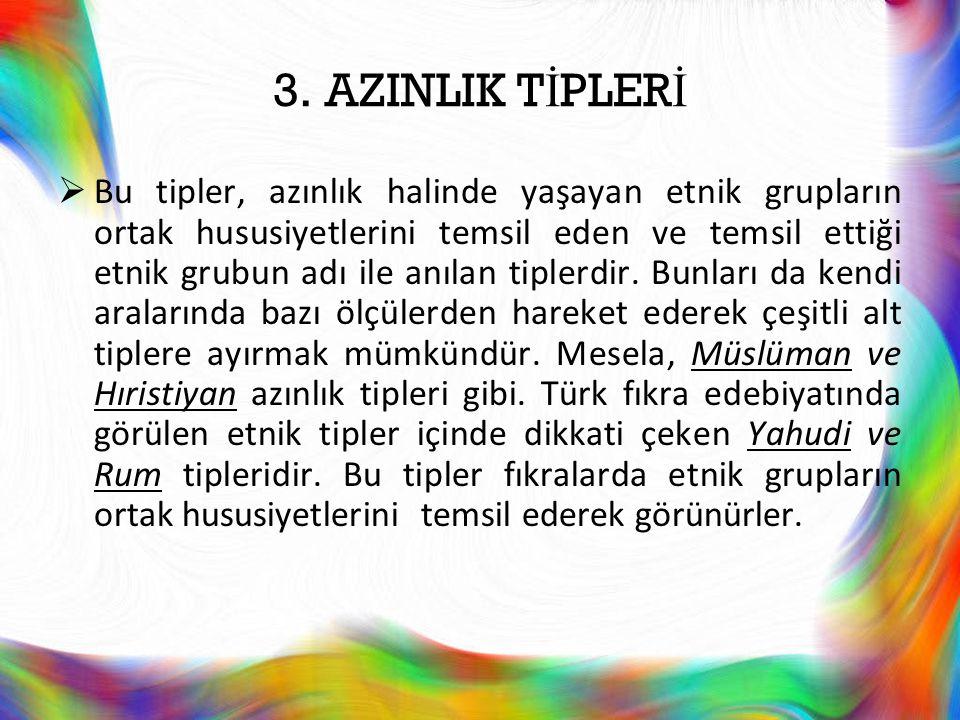 3. AZINLIK TİPLERİ