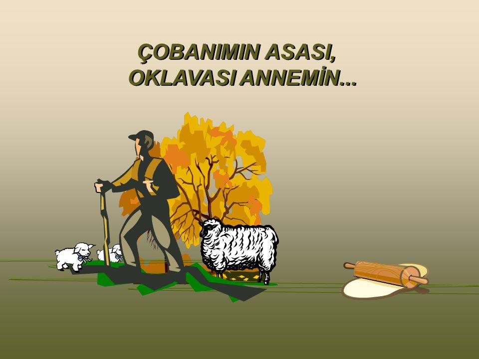 ÇOBANIMIN ASASI, OKLAVASI ANNEMİN...