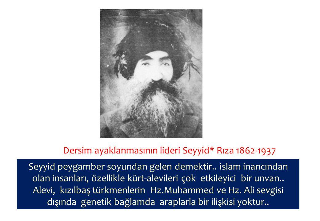 Dersim ayaklanmasının lideri Seyyid* Rıza 1862-1937