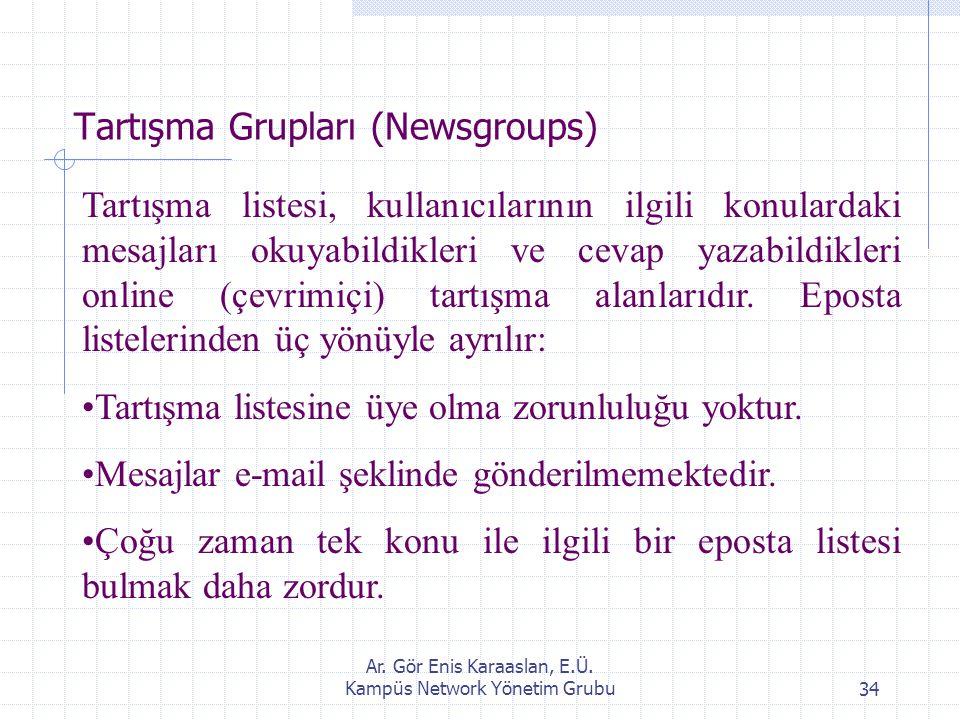 Tartışma Grupları (Newsgroups)