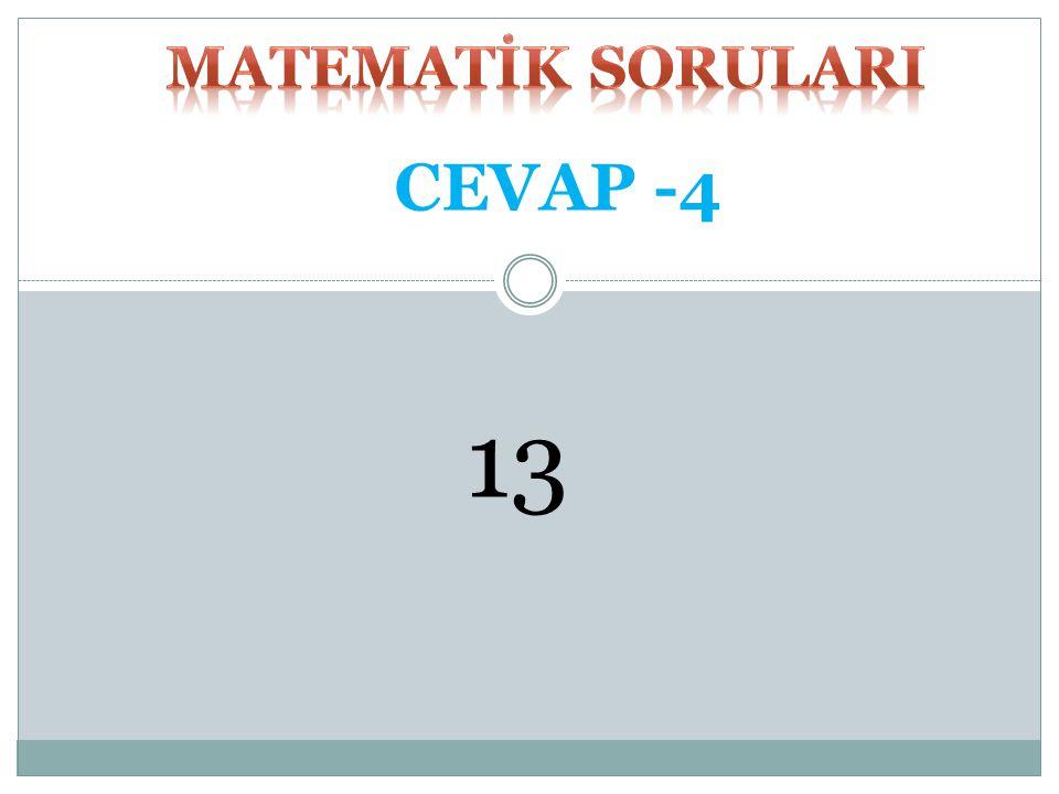 MATEMATİK SORULARI CEVAP -4 13