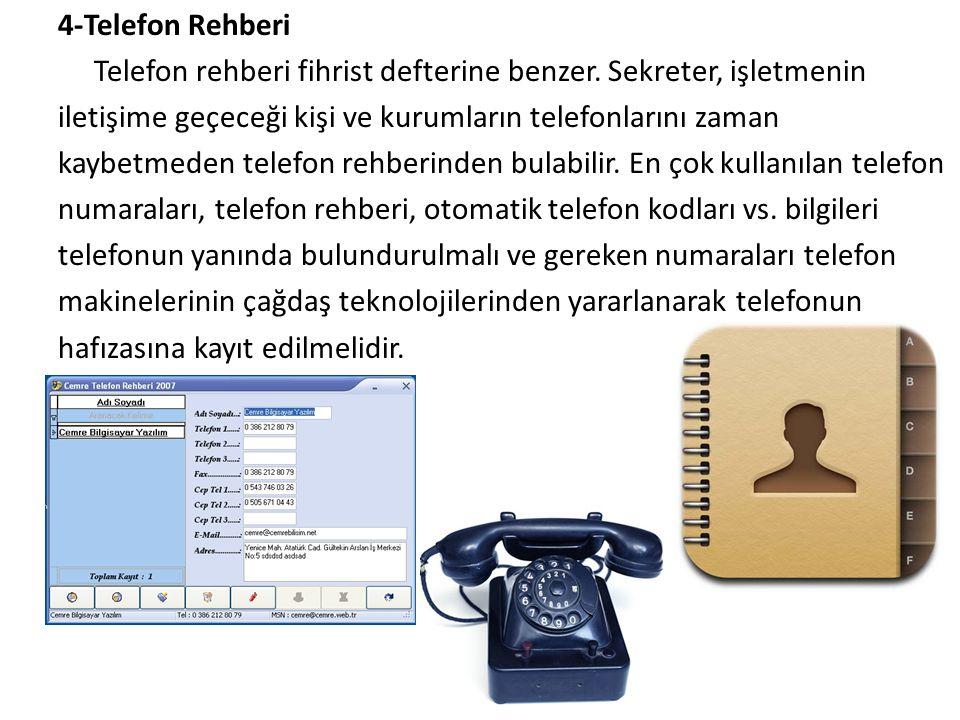 4-Telefon Rehberi Telefon rehberi fihrist defterine benzer