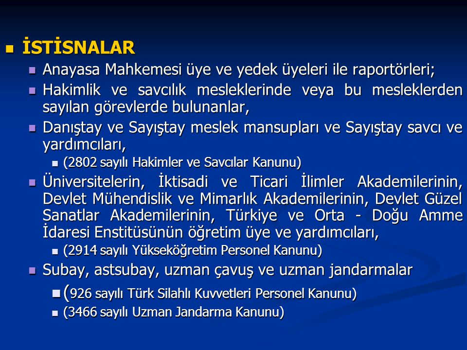 (926 sayılı Türk Silahlı Kuvvetleri Personel Kanunu)