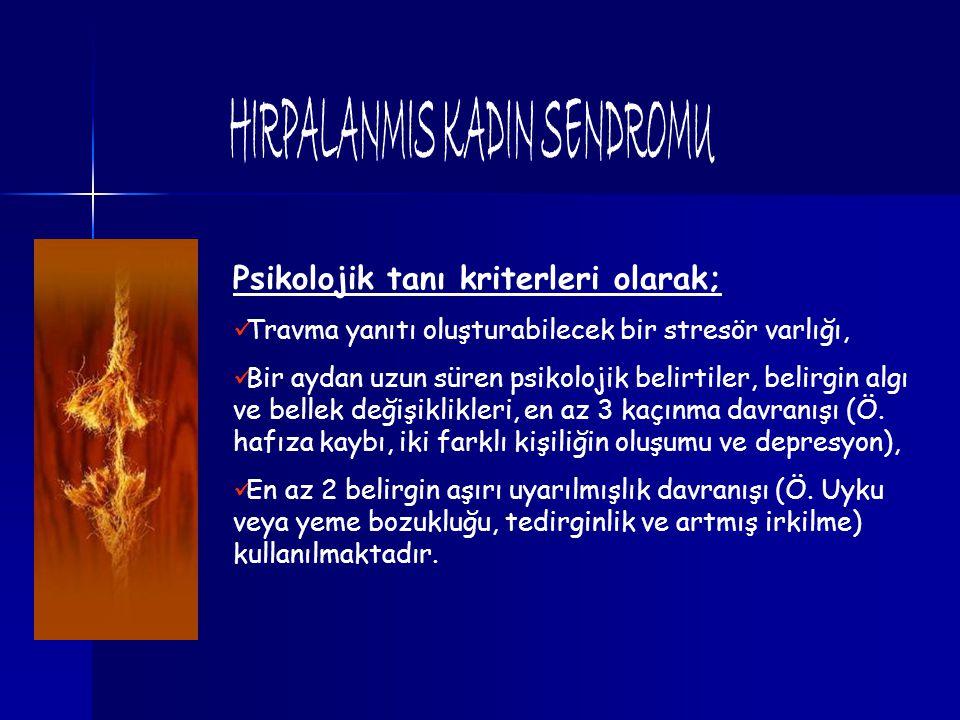 HIRPALANMIS KADIN SENDROMU