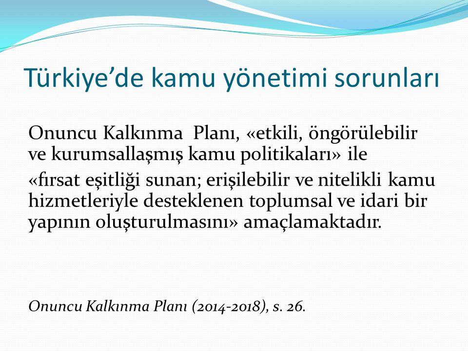 Türkiye'de kamu yönetimi sorunları