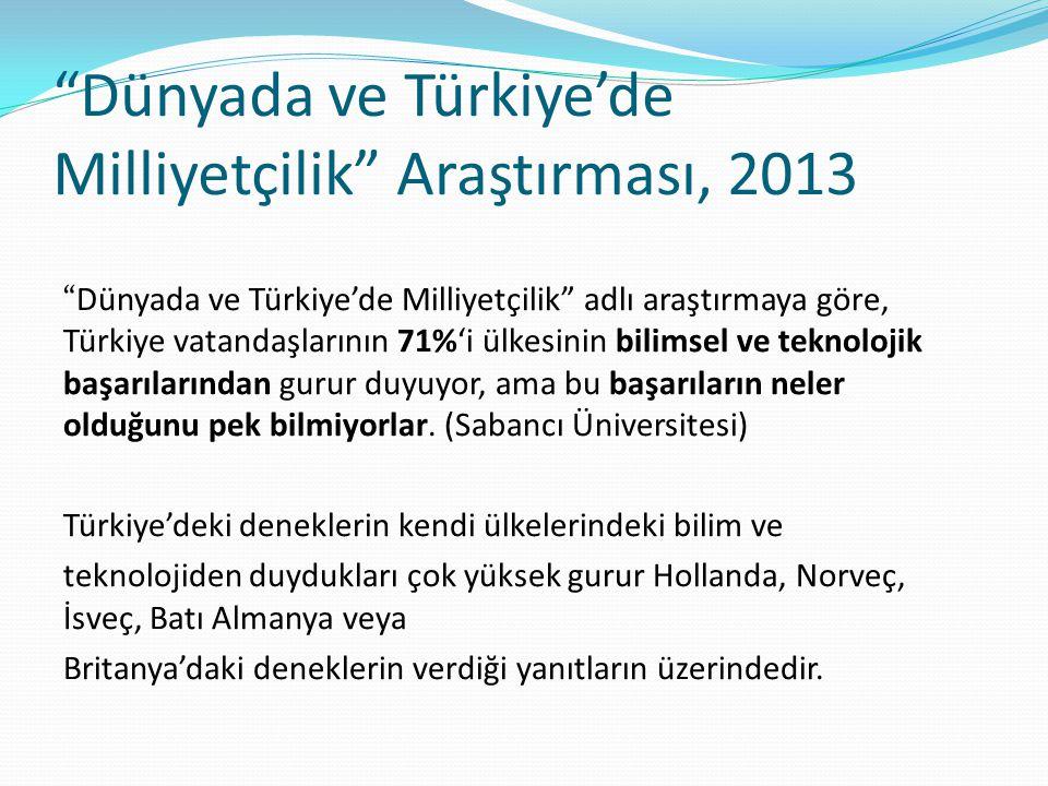 Dünyada ve Türkiye'de Milliyetçilik Araştırması, 2013