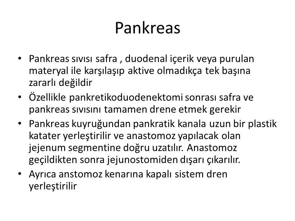 Pankreas Pankreas sıvısı safra , duodenal içerik veya purulan materyal ile karşılaşıp aktive olmadıkça tek başına zararlı değildir.