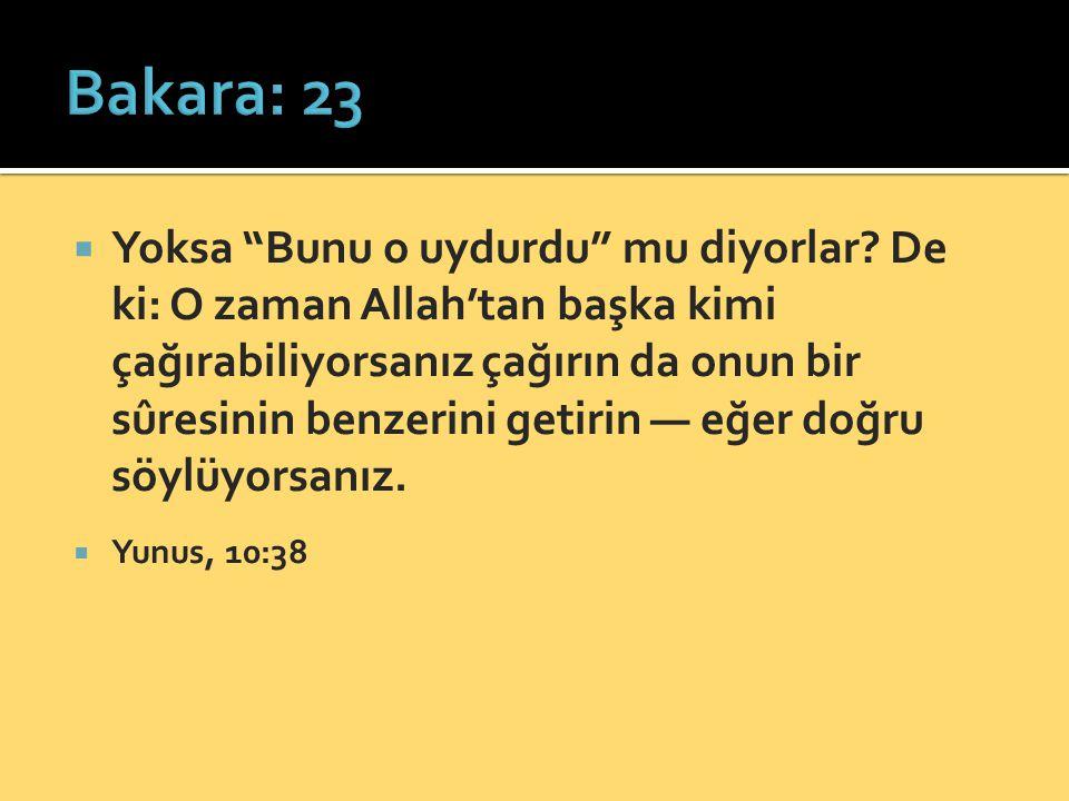 Bakara: 23