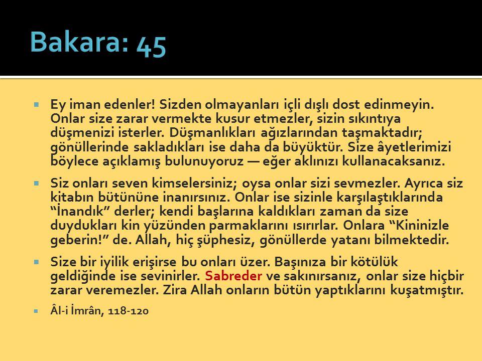 Bakara: 45