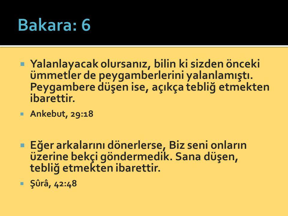 Bakara: 6