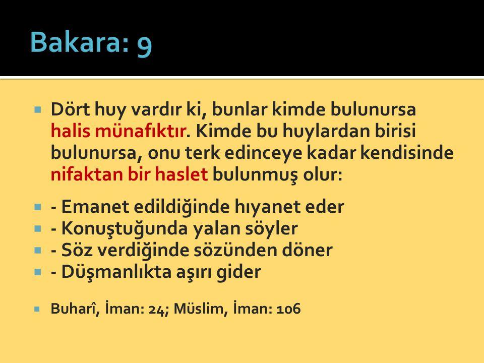 Bakara: 9