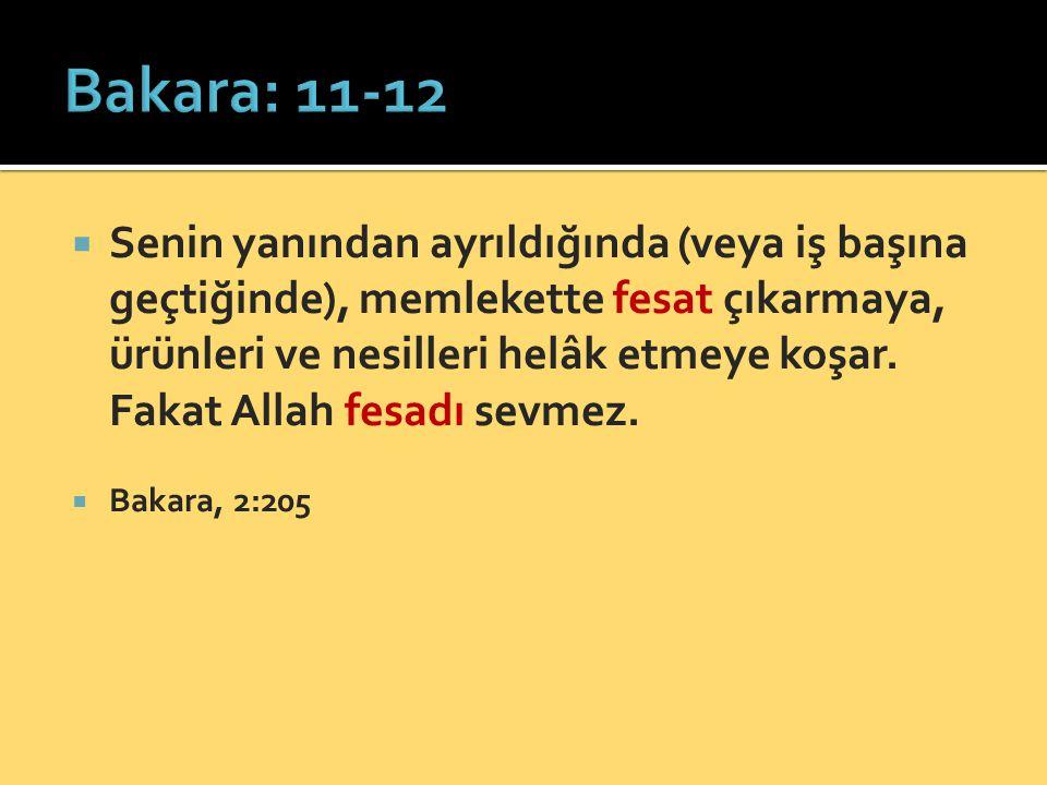 Bakara: 11-12
