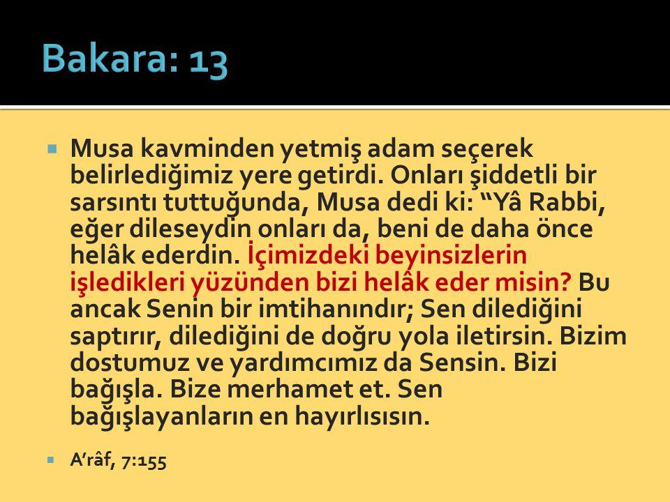 Bakara: 13