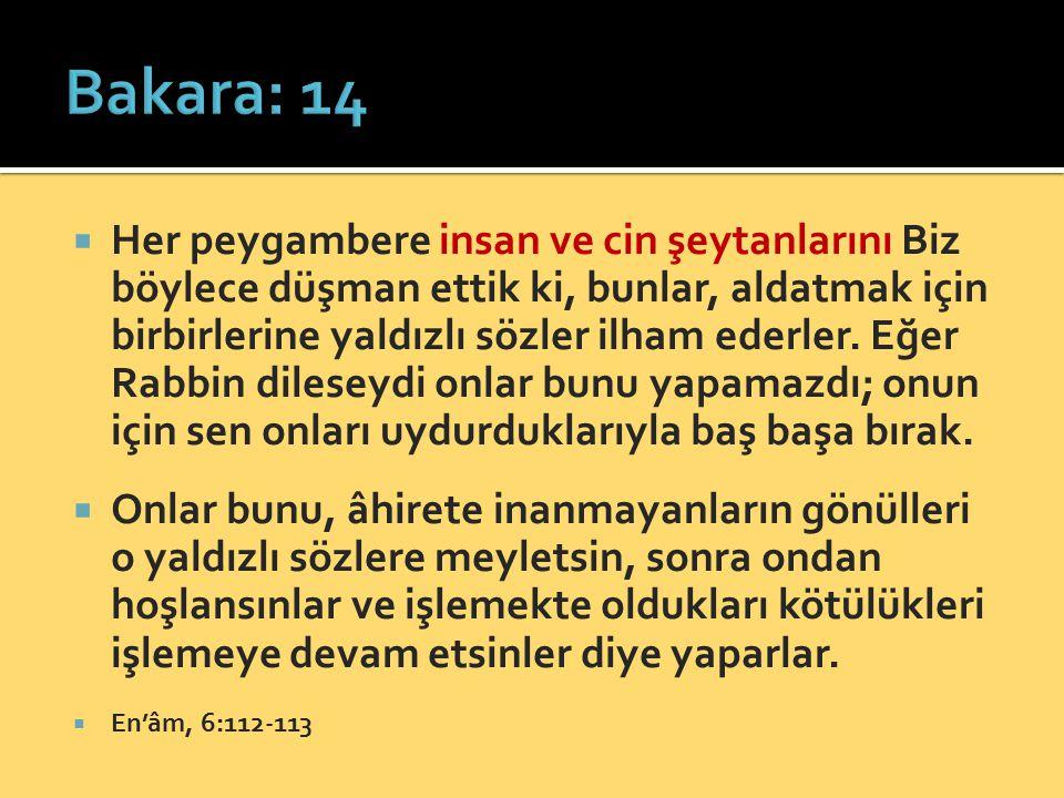 Bakara: 14