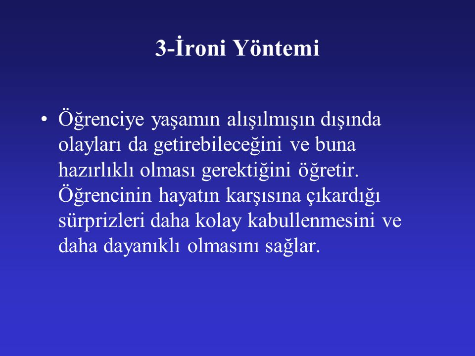 3-İroni Yöntemi