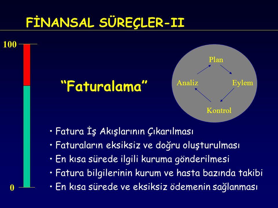 Faturalama FİNANSAL SÜREÇLER-II 100