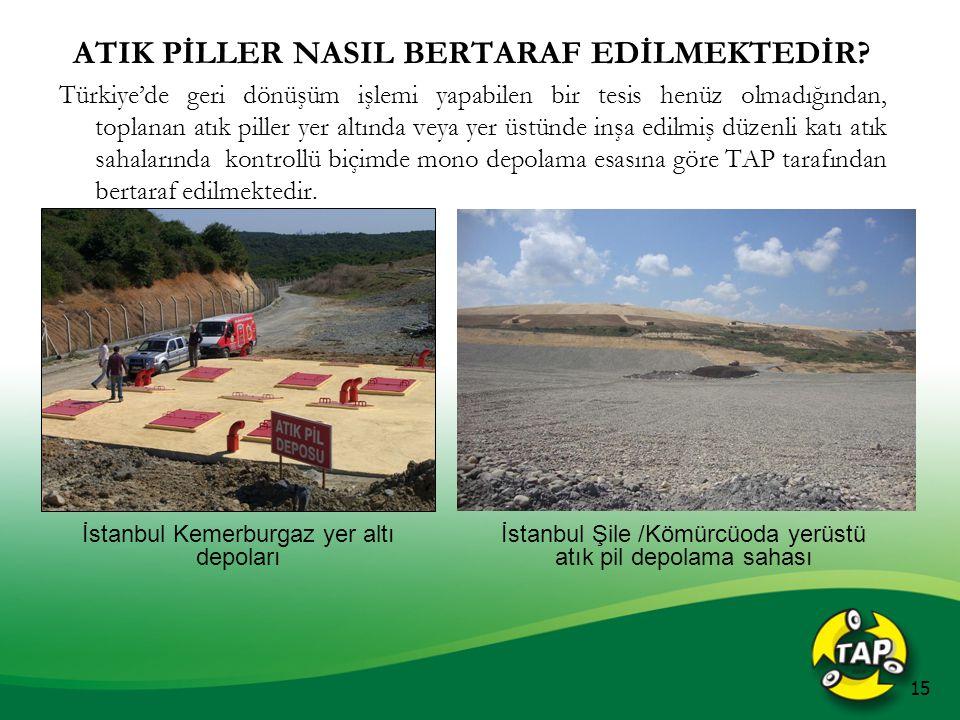 ATIK PİLLER NASIL BERTARAF EDİLMEKTEDİR