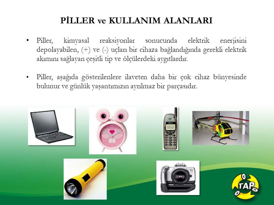 PİLLER ve KULLANIM ALANLARI