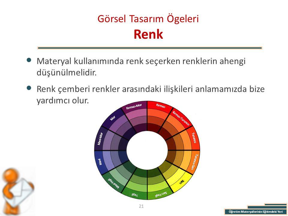Görsel Tasarım Ögeleri Renk