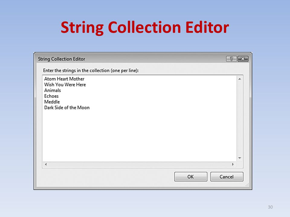 String Collection Editor