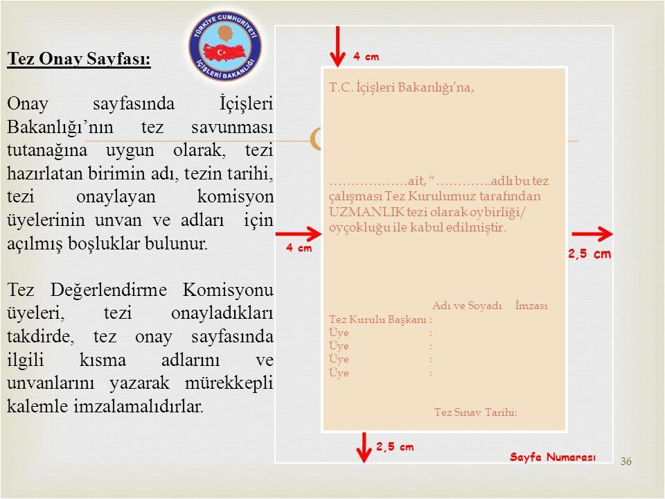 Tez Onay Sayfası: