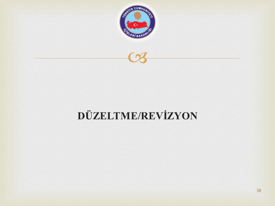 DÜZELTME/REVİZYON