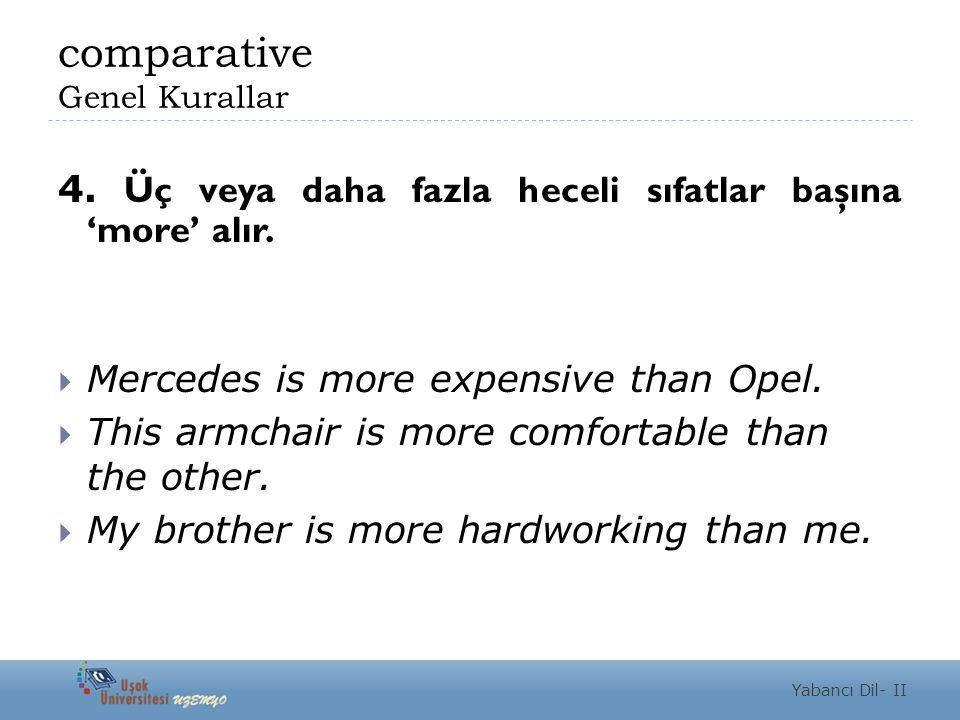 comparative Genel Kurallar