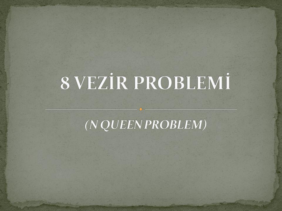 8 VEZİR PROBLEMİ (N QUEEN PROBLEM)