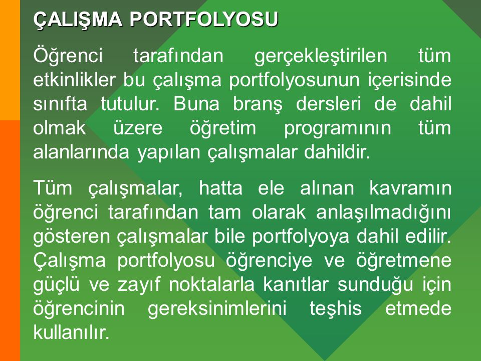 ÇALIŞMA PORTFOLYOSU