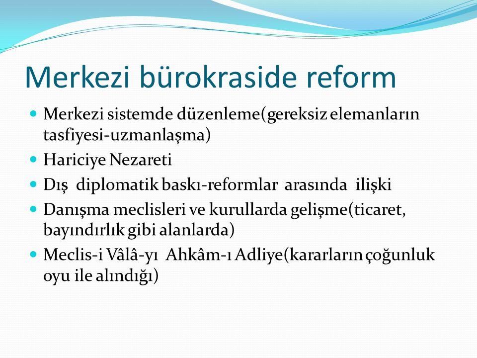 Merkezi bürokraside reform