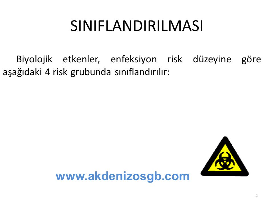 SINIFLANDIRILMASI www.akdenizosgb.com